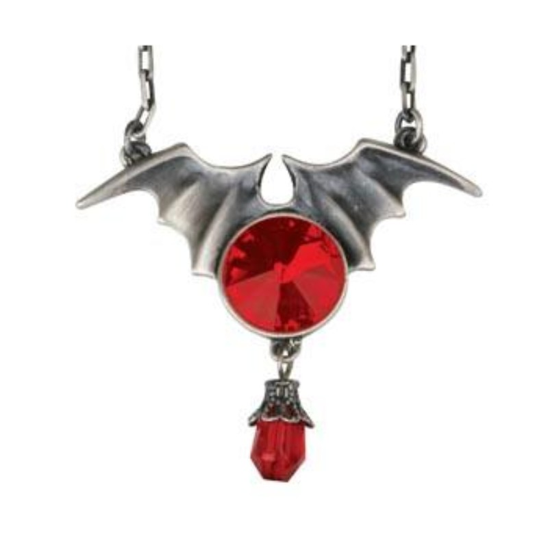 Batwing with Ruby Pendant