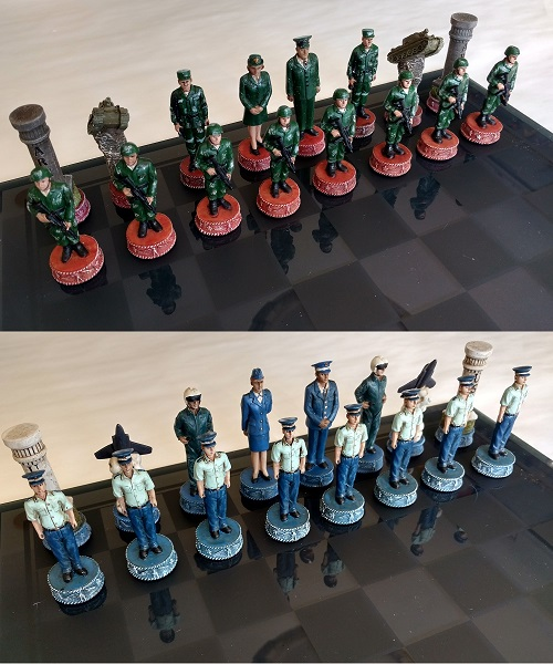 Army and Air Force Chess Set