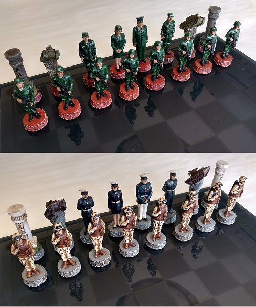 Army and Marine Chess Set
