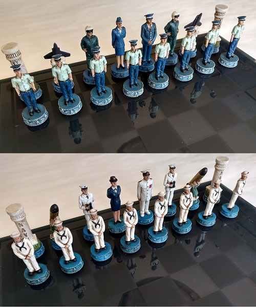 Navy and Air Force Chess Set
