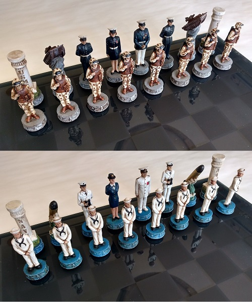 Navy and Marine Chess Set