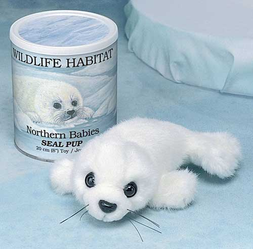 White Seal Pup in a Can