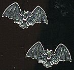 Bat Earrings, tiny gold