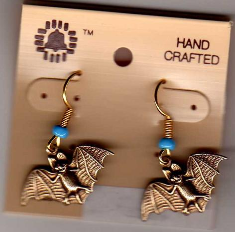 Nickel Bat Dangle Earrings