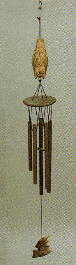Cave Bat Wind Chime, large