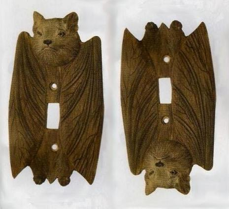 Cave Bat Light Switch Plate