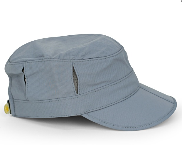 Kids Sun Tripper Cap, Baby Chambray/Gray
