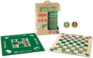 National Parks Campfire Checkers and Tic Tac Toe