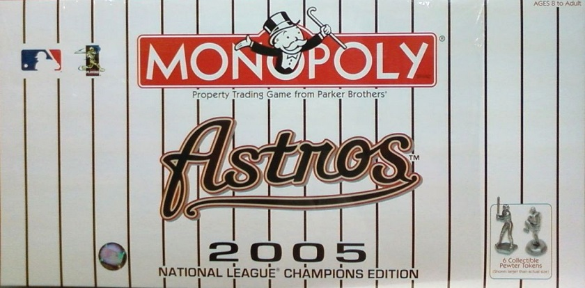 Astros 2005 National League Championship Edition Monopoly