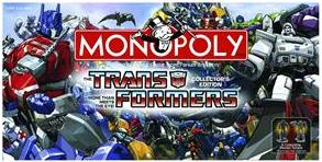 Transformers Collector's Edition Monopoly