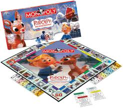 Rudolph the Red-Nosed Reindeer Monopoly (rectangular)