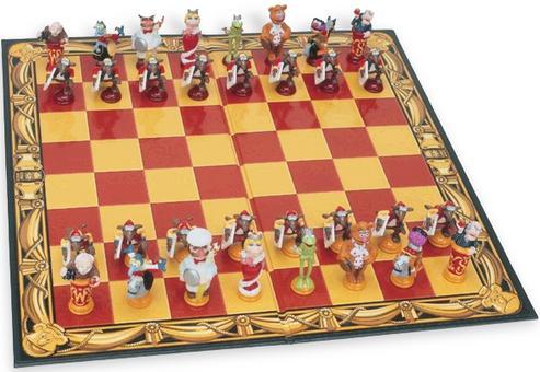 Kermit Collection 3D Chess Set
