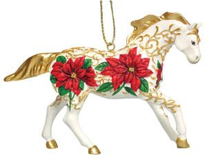 Poinsettia Pony Ornament