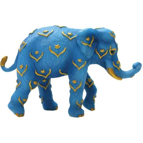 Blue and Gold Mini Elephant