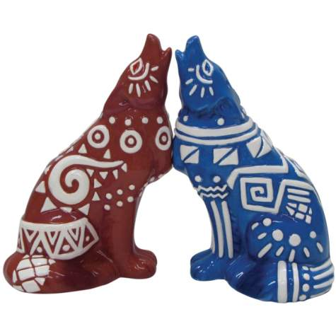 Tribal Art Salt and Pepper Shakers