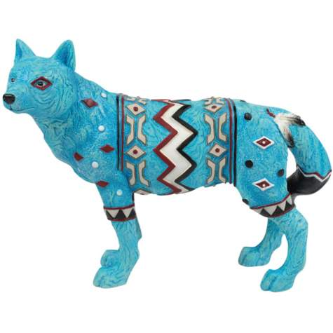 Turquoise Marble Wolf