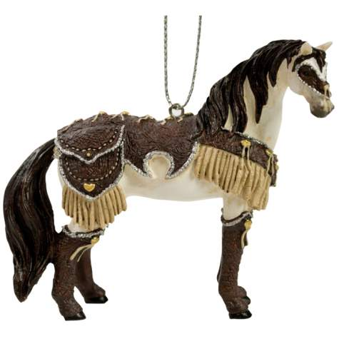 Western Leather Mustang Ornament