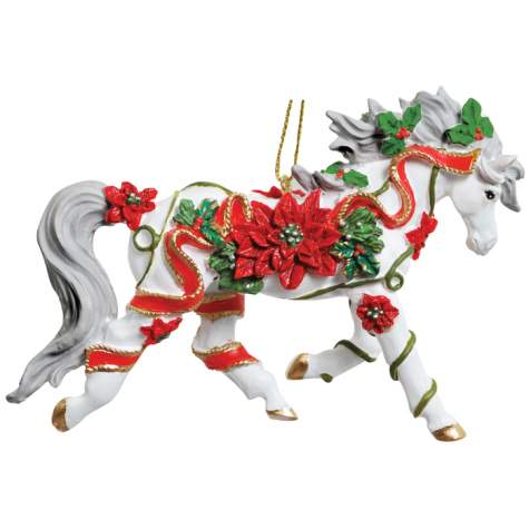 Poinsettia Horse Arabian Ornament