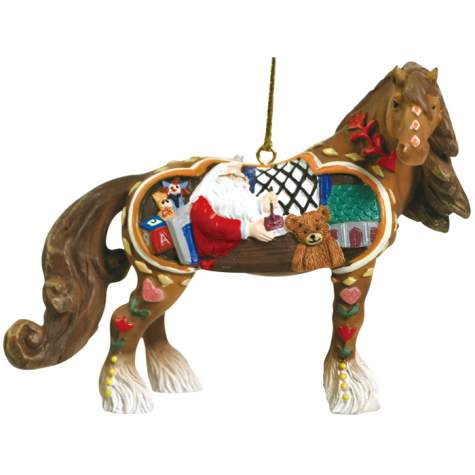 Santa's Workshop Clydesdale Ornament