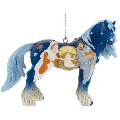 Nativity Clydesdale Ornament