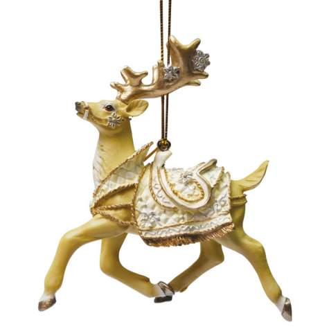 White Christmas Reindeer Ornament