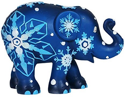 Snowflakes Elephant Ornament in a Tin