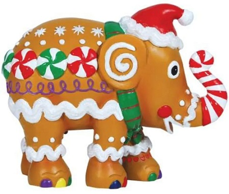 Gingerphant Elephant Ornament in a Tin